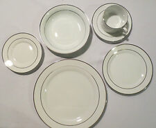 Emily Platinum bands J C Penny's Fine China ~ 36 Piece Set ~ Service for 6 NEW