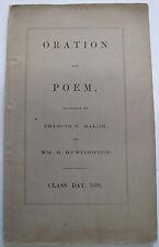 Francis V. Balch Huntington Oration Poem Poetry Verse Harvard Graduation 1860