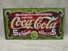 Vintage look Coke Coca Cola Tin Metal Sign