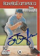 Sean Burroughs 1999 Baseball America Team Best Signed Card