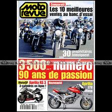 MOTO REVUE N°3500 YAMAHA FZS 600 1000 XJR 1300 YZF R6 TDM 850 SUZUKI 1200 BANDIT