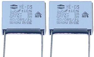 4 MKP Kondensatoren 1,2µF 250Volt ~  RM 22,5mm