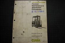 CLARK ECA EPA Forklift Operation Maintenance Manual shop book operator owner oem