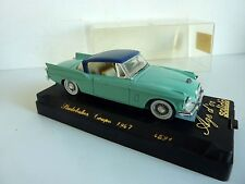 SOLIDO 4521 STUDEBAKER COUPE 1957 VERT TOIT BLEU + DECALCOMANIES 1/43 BOX