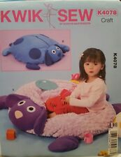 New Kwik Sew Crafts Sewing Pattern K4078 For Kid's Lamb & Dog Puppy Ball Pit