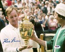 Rod Laver HOF Tennis Signed Auto 8x10 PHOTO PSA/DNA COA