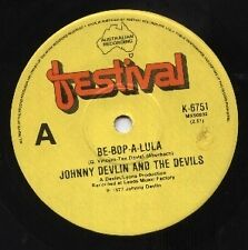 """JOHNNY DEVLIN AND THE DEVILS    Rare 1977 Oz Only 7"""" Rock Single """"Be-Bop-A-Lula"""""""