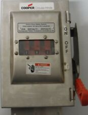 HEAVY DUTY SAFETY SWITCH WSRDW33542SMS  COOPER CROUSE-HINDS 3P 30A 600V 250VDC
