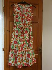True Vintage Floral Tiered Midi Dress. 70s or 80s
