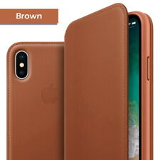 iPhone X XS 11 Pro Max Leather Folio Cover Flip Wallet Case Smart Sleep Wake Up