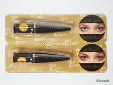 2x 2.5gm Black EYELINER KAJAL Indian Cosmetic, No Side Effect, Large