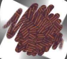 "1 Hank BROWN Transparent Matte 6mm (1/4"") Glass Bugle Seed Beads N2045"