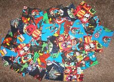 REDUCED 30 Cotton  Marvel Superheroes Quilt Patchwork Charms Squares 4 Inch