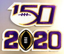 2020 College National Championship NCAA 150 Game Jersey Patch (2) LSU Tigers