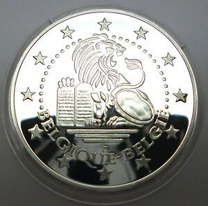 Belgium 2002 Rare Commemorative Silver Proof Medal - Lion - Europa & Bull (T71)