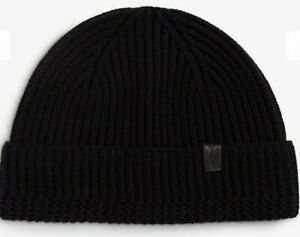 All saints hat Merino Beanie Black One Size