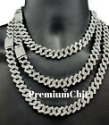 ICED Miami Cuban Link Chain Necklace or Bracelet (Diamond Prong) Hip Hop Jewelry