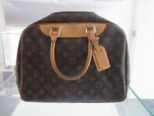 Louis Vuitton Deauville Beauty Bag Case Monogramm Canvas Bowling Vanity Bag