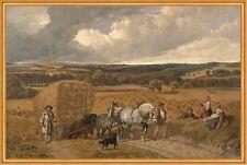 The Harvest John Frederick Herring Pferde Heuwagen Ernte Hunde Bauern B A1 00058