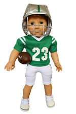 My Brittany's Football outfit for American Girl Boy Dolls-Spartans Colors