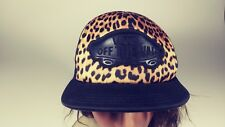 "Vintage VANS ""OFF THE WALL"" Leopard & Black Trucker Hat Ball Cap"