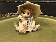 1995 April Showers Calico Kittens Enesco No Box Umbrella Bunny
