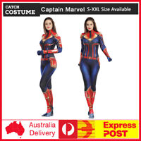 2019 Women Captain Marvel Carol Lycra Zentai Costume Cosplay Full bodysuit