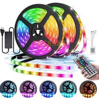 5M/10M 3528/5050 LED Light Strip Kits RGB Lamp for Home Decor +Controller +Power