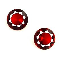 Burma Ruby Round Birthstone Pair 4.25 Ct 100% Natural VS Clarity AGSL Certified