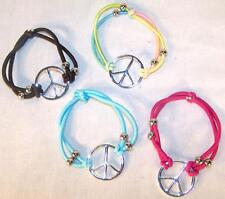 2 PEACE SIGN ROPE BRACELETS new womens bracelet jewelry JL469 fashion girls
