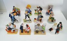 Lot of 12 The 12 Norman Rockwell Figurines Danbury Mint 1980 Booklet Full Set
