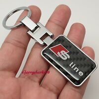 Audi Sline Chrome Metal Keyring Key Ring Fob Chain With Gift Box