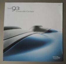 SAAB 93 CONVERTIBLE CERULEAN Special Edition orig 2006 UK Mkt Sales Brochure