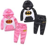 1 set toddler Baby clothes GIRLS boys autumn winter outfits tops+pants superhero