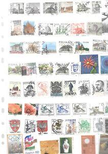 timbres obliteres  DE POLOGNE