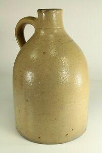 = Antique 19th Century Stoneware Jug Crock # 10 Merchant Marked