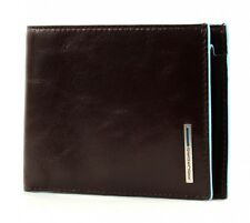 PIQUADRO Blue Square Men's Wallet RFID Geldbörse Mogano Braun Neu