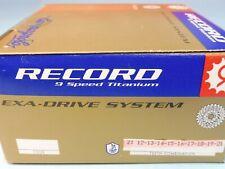 Campagnolo Record 9 Sp / 99  Full Titanium 12 / 21 cassette sprocket set - NOS