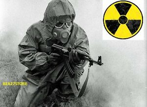 L2 NBC SUIT HEAVY DUTY FULL PROTECTIVE COVERALL ISOLATION HAZMAT WITH GAS MASK