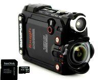 4K Olympus Stylus Tough TG-Tracker Action Camera + 64GB microSD, Tripod, Case