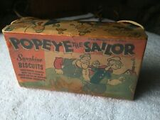 POPEYE THE SAILOR SUNSHINE BISCUITS BOX EXCELLENT 1930's