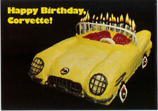 Super Duper Rare Collectible 1978 Zora Duntov Corvette 25th Birthday Party Card!