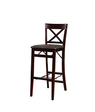 Linon Triena X Back Folding Bar Stool, Brown