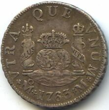 MEXIQUE CHARLES III 2 REALES 1763 MO M MEXICO Var. 3 SUR 2 KM 87