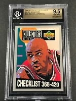 MICHAEL JORDAN 1994 UPPER DECK #420 COLLECTOR'S CHOICE SILVER SIGNATURE BGS 9.5