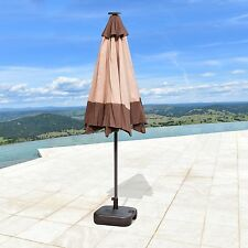 SUPERNOVA 9'FT Solar 24 LED Lights Patio Umbrella Garden Outdoor Sunshade Market