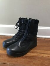 "Men's 5.11 Tactical Atac 8"" Zip Combat Boots Black Leather 10 Excellent"