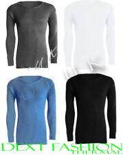 Camisetas interiores azul de poliéster para hombre