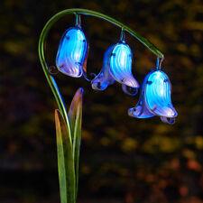 2 PACK SOLAR POWER BLUEBELL LED STAKE LIGHT OUTDOOR GARDEN PATH NOVELTY FLOWER