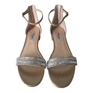 Nina Nolita Gold Shimmer Dress Sandals Size 11 Medium